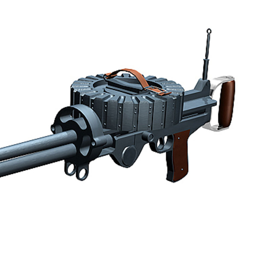 Lewis Machine Gun royalty-free 3d model - Preview no. 4