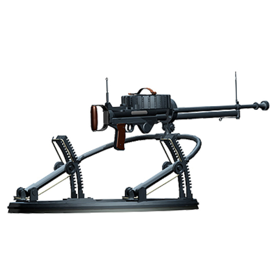 Lewis Machine Gun royalty-free 3d model - Preview no. 6
