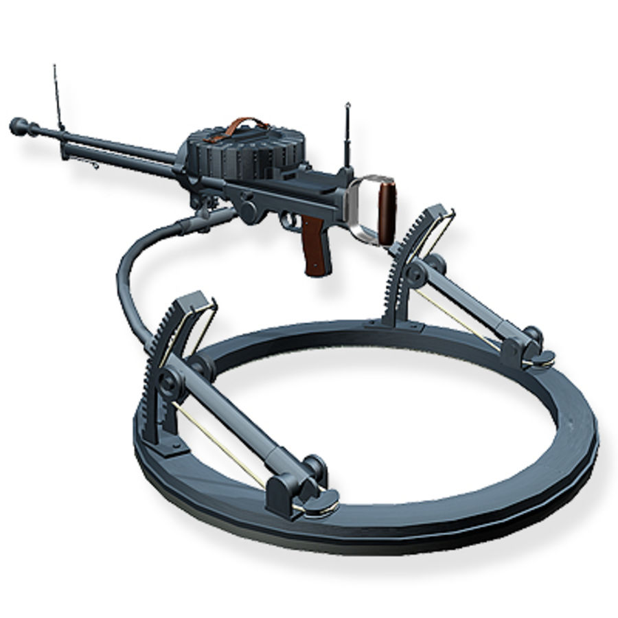 Lewis Machine Gun royalty-free 3d model - Preview no. 1