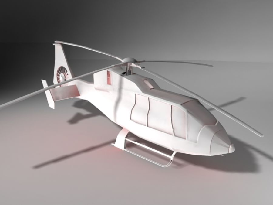 Eurocopter royalty-free 3d model - Preview no. 1
