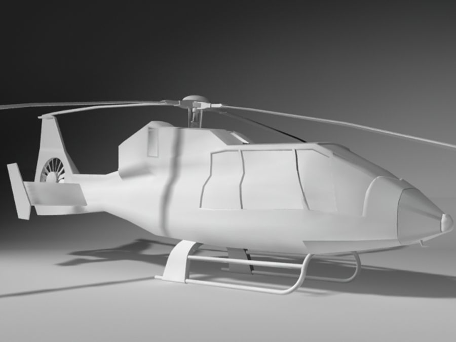 Eurocopter royalty-free 3d model - Preview no. 4