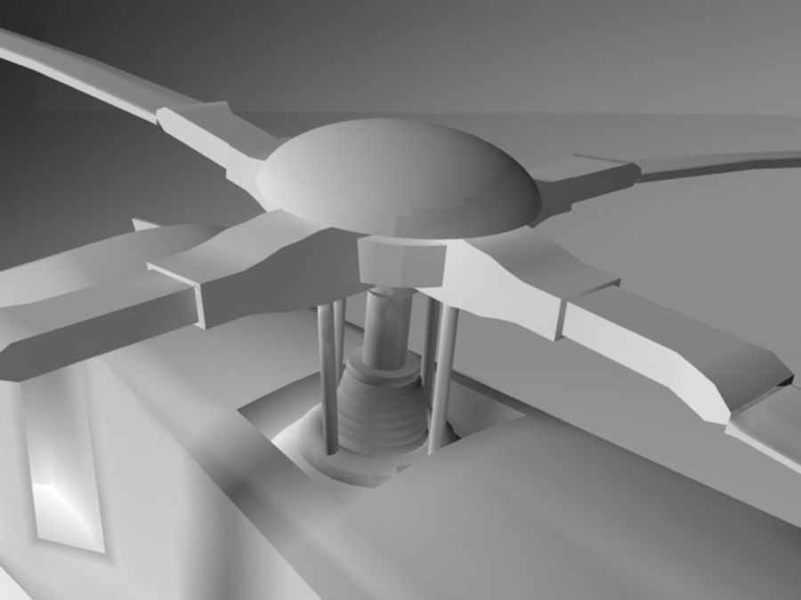 Eurocopter royalty-free 3d model - Preview no. 2