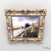 Picture in a frame 3d model