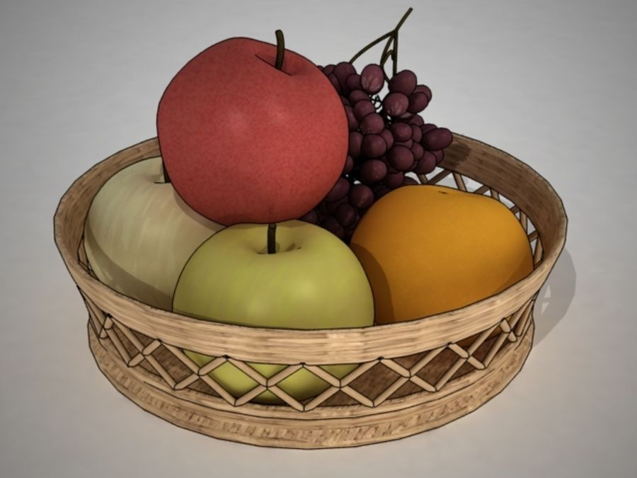 Fruit Fruta royalty-free 3d model - Preview no. 4