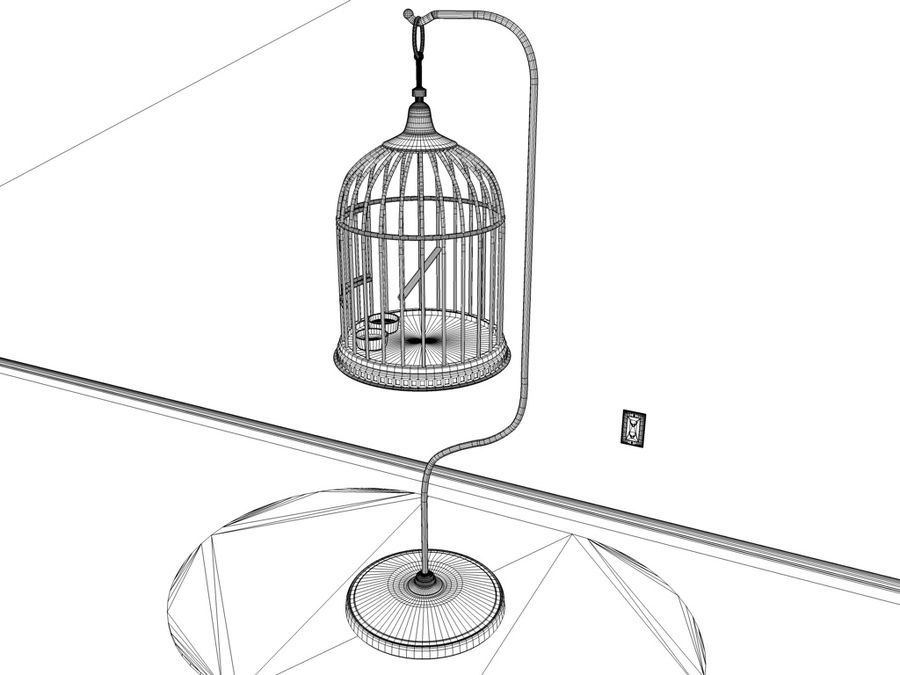 BIRD-CAGE royalty-free 3d model - Preview no. 4