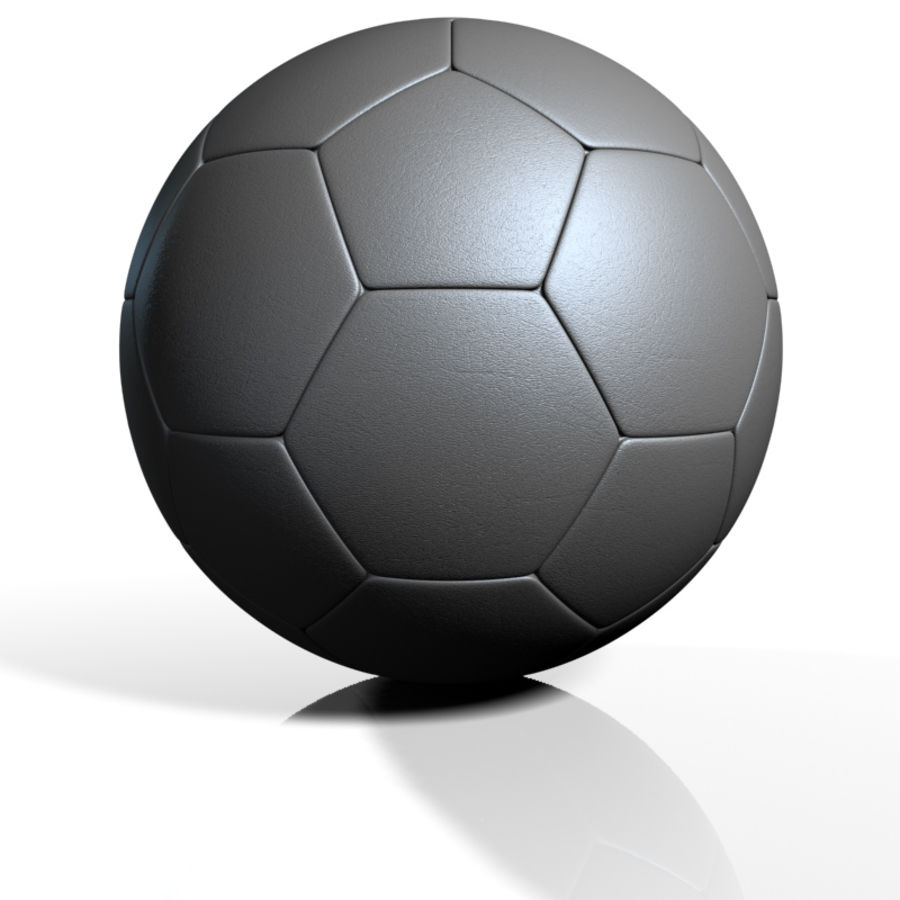 Football Soccerball royalty-free 3d model - Preview no. 4