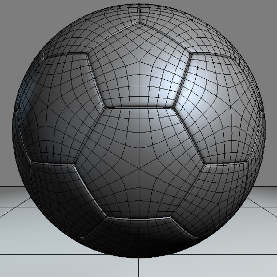 Football Soccerball royalty-free 3d model - Preview no. 5