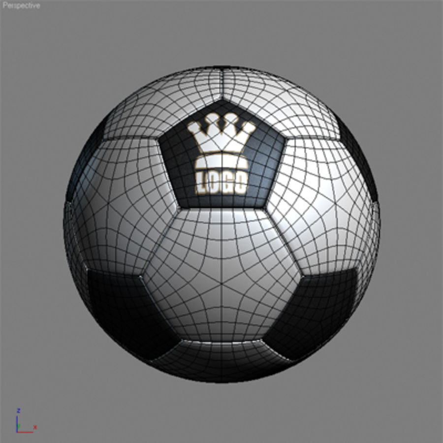 Football Soccerball royalty-free 3d model - Preview no. 7