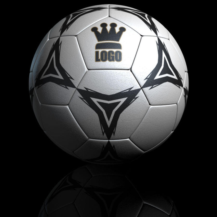 Football Soccerball royalty-free 3d model - Preview no. 11