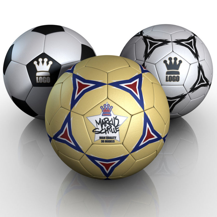 Football Soccerball royalty-free 3d model - Preview no. 1
