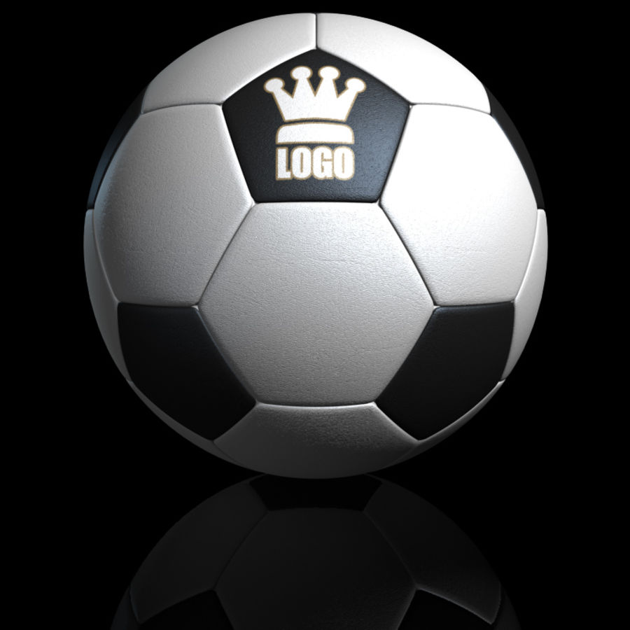 Football Soccerball royalty-free 3d model - Preview no. 10