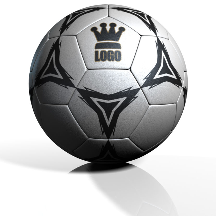 Football Soccerball royalty-free 3d model - Preview no. 2