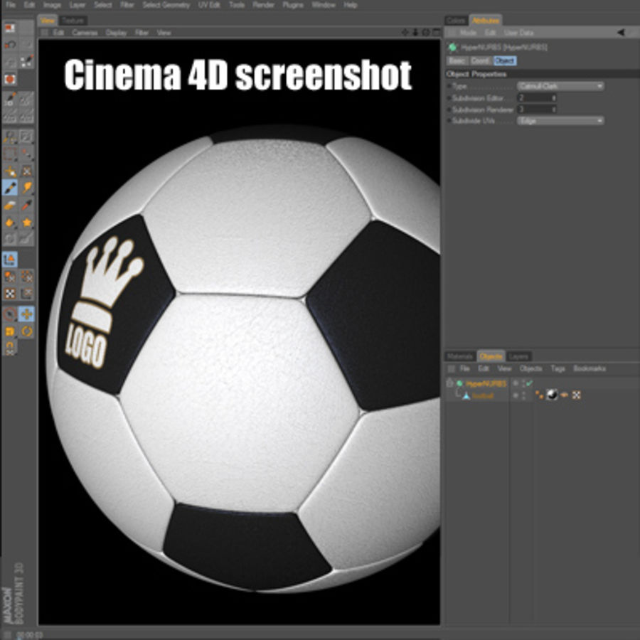Football Soccerball royalty-free 3d model - Preview no. 13