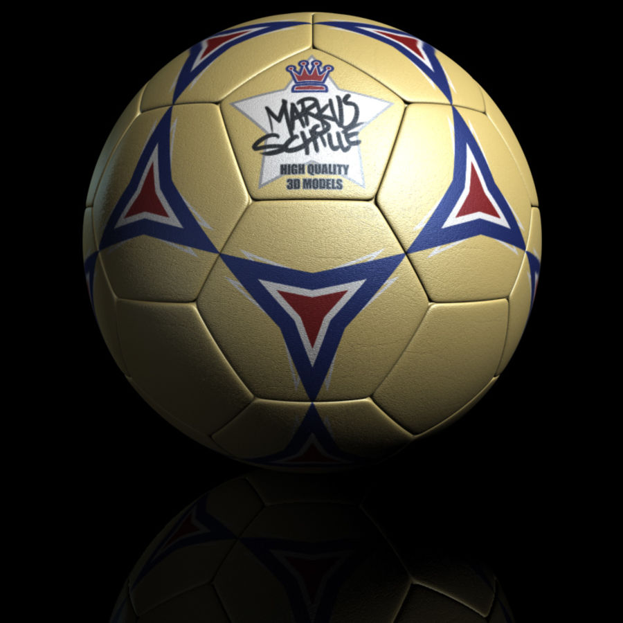Football Soccerball royalty-free 3d model - Preview no. 9