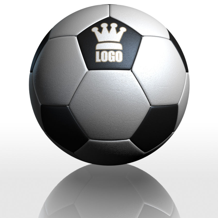 Football Soccerball royalty-free 3d model - Preview no. 3