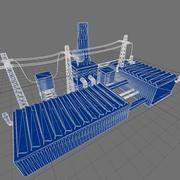 Factory Buildings Low-Poly 3d model