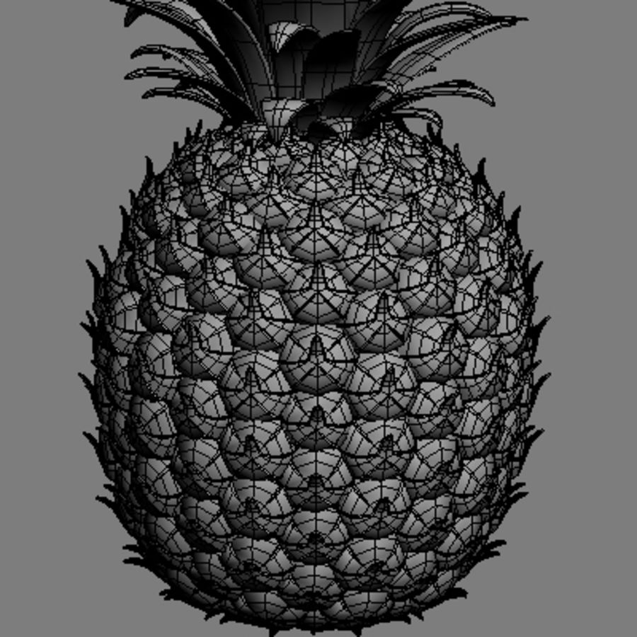Pineapple royalty-free 3d model - Preview no. 2