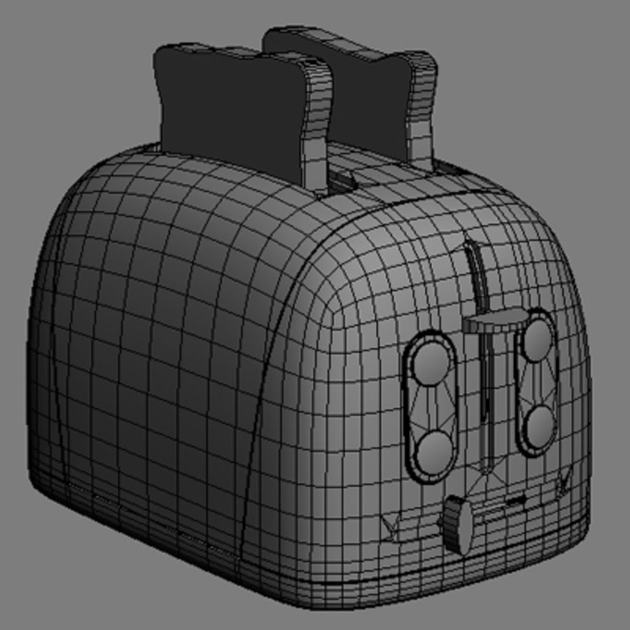 Toaster royalty-free 3d model - Preview no. 4