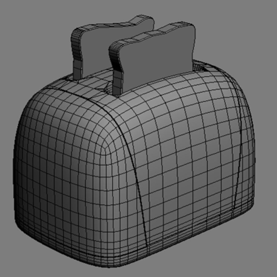 Toaster royalty-free 3d model - Preview no. 3