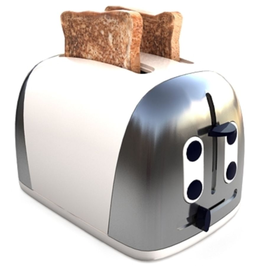 Toaster royalty-free 3d model - Preview no. 1