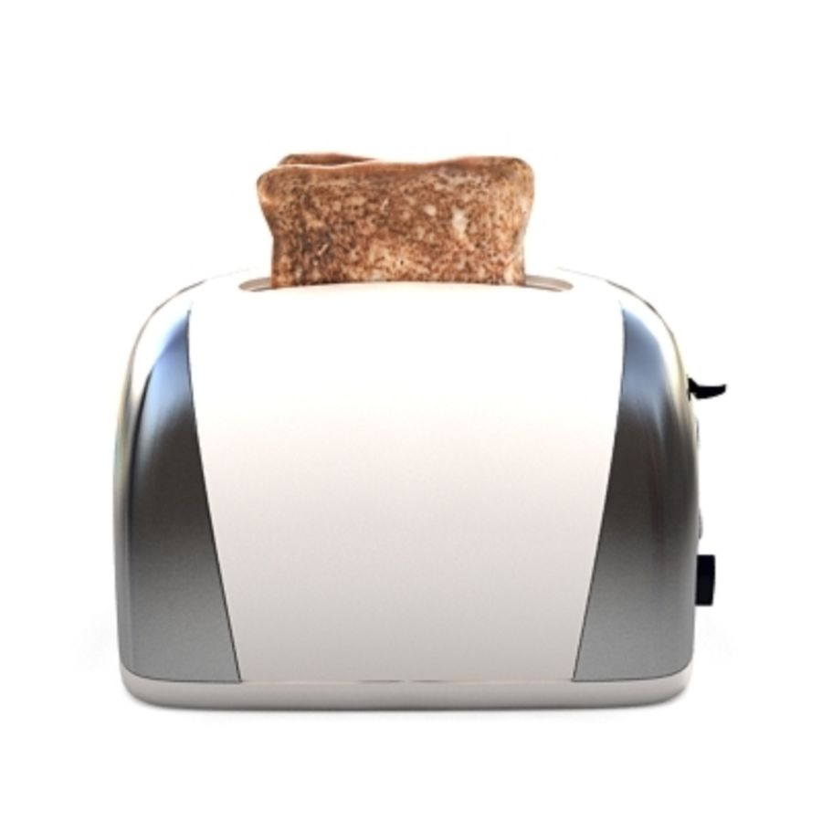 Toaster royalty-free 3d model - Preview no. 2