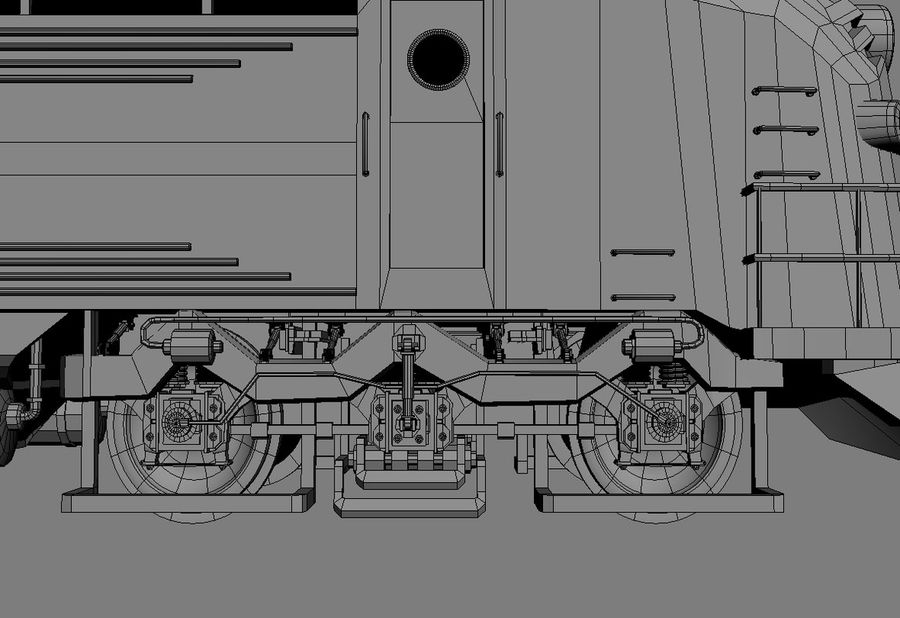 Train royalty-free 3d model - Preview no. 2
