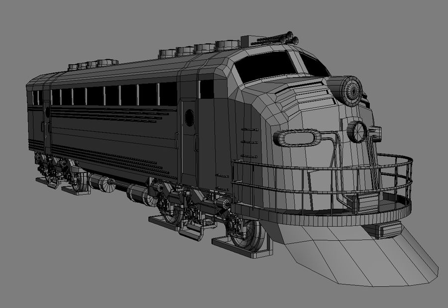 Train royalty-free 3d model - Preview no. 1