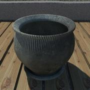 Clay Pot 2 3d model