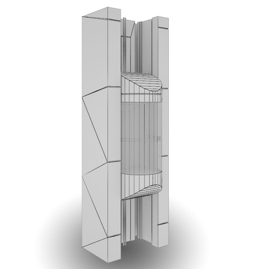 Panoramic elevator 03 by 3DRivers 3D Model $20 -  obj  max