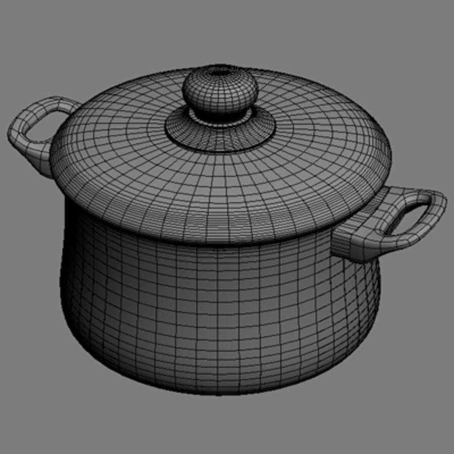 Pot royalty-free 3d model - Preview no. 4
