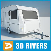 Camping trailer by 3DRivers 3d model