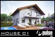Family House 01 3d model