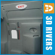 Airbus economy class emergency exit 3d model