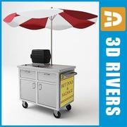 Hot dog cart by 3DRivers 3d model