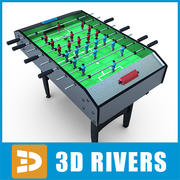 Table football by 3DRivers 3d model