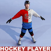 Hockey player static 3d model