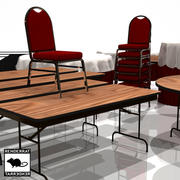Catering Tables and Chairs 3d model