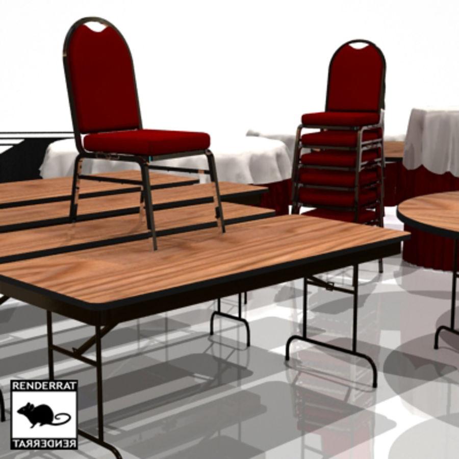 Tavoli E Sedie Per Catering.Tavoli E Sedie Per Catering Modello 3d 35 Max 3ds Free3d
