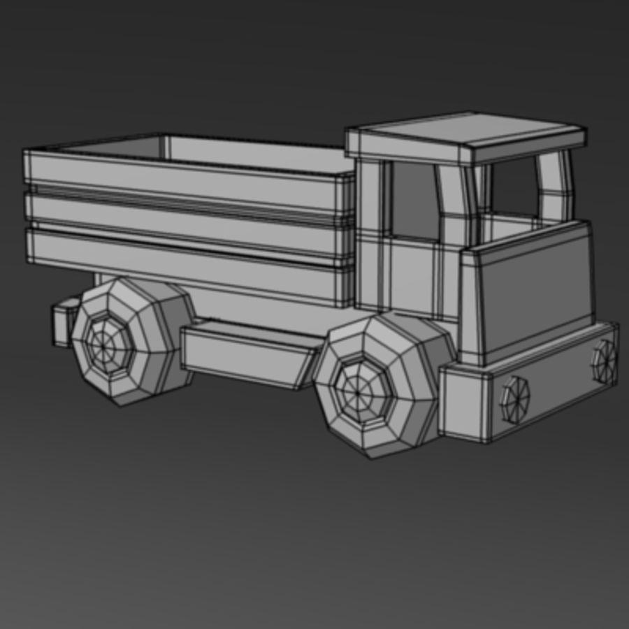 carro de madeira royalty-free 3d model - Preview no. 3
