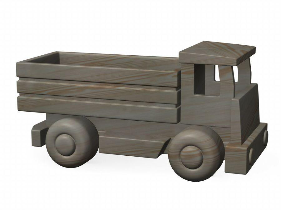 carro de madeira royalty-free 3d model - Preview no. 2