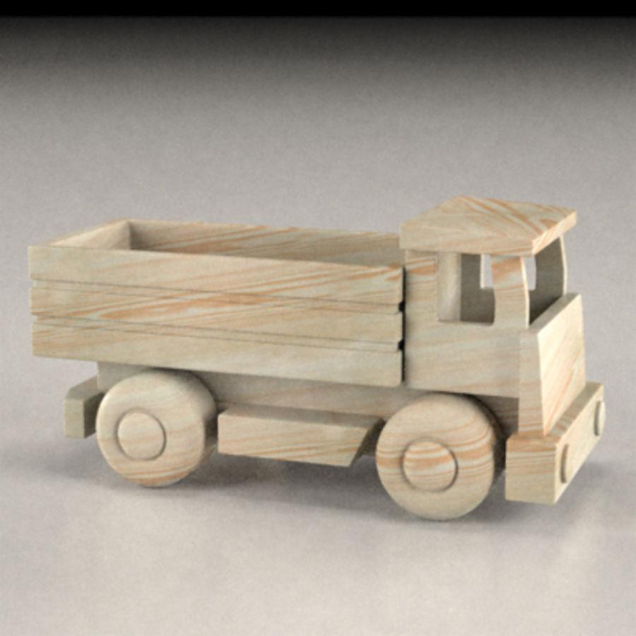 carro de madeira royalty-free 3d model - Preview no. 1
