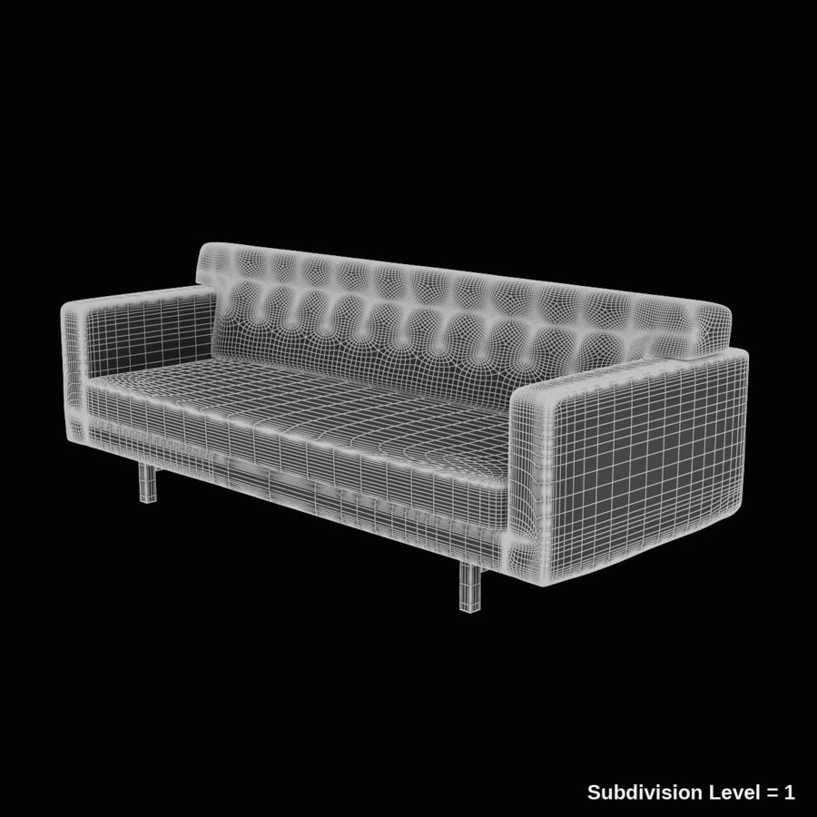 Couch 02 royalty-free 3d model - Preview no. 9