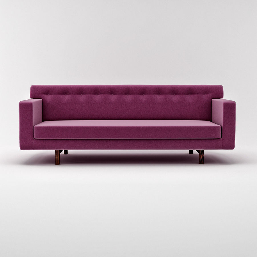 Couch 02 royalty-free 3d model - Preview no. 4