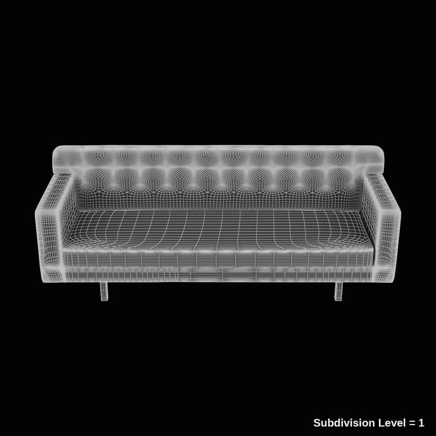 Couch 02 royalty-free 3d model - Preview no. 27