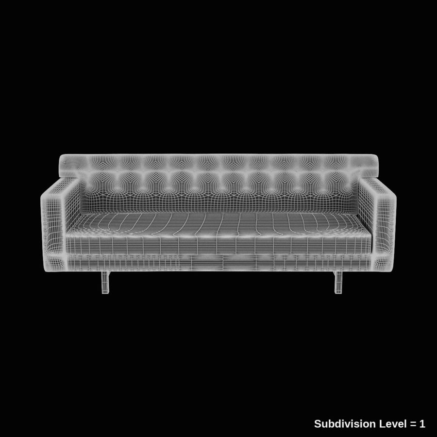 Couch 02 royalty-free 3d model - Preview no. 11