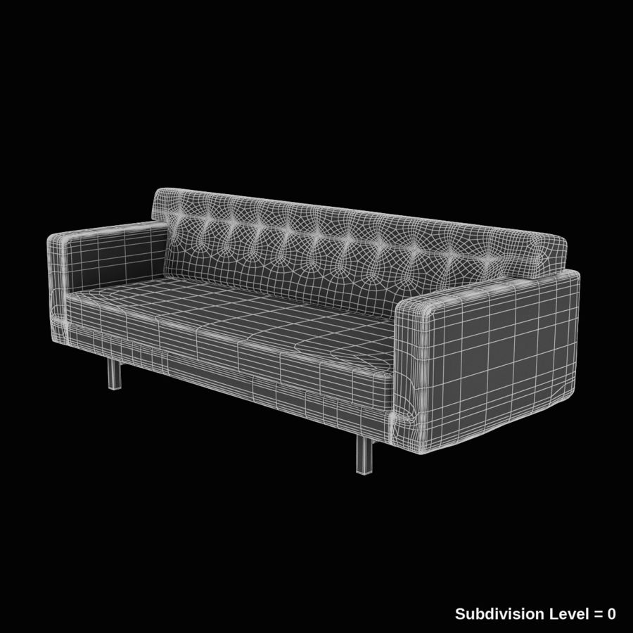 Couch 02 royalty-free 3d model - Preview no. 10