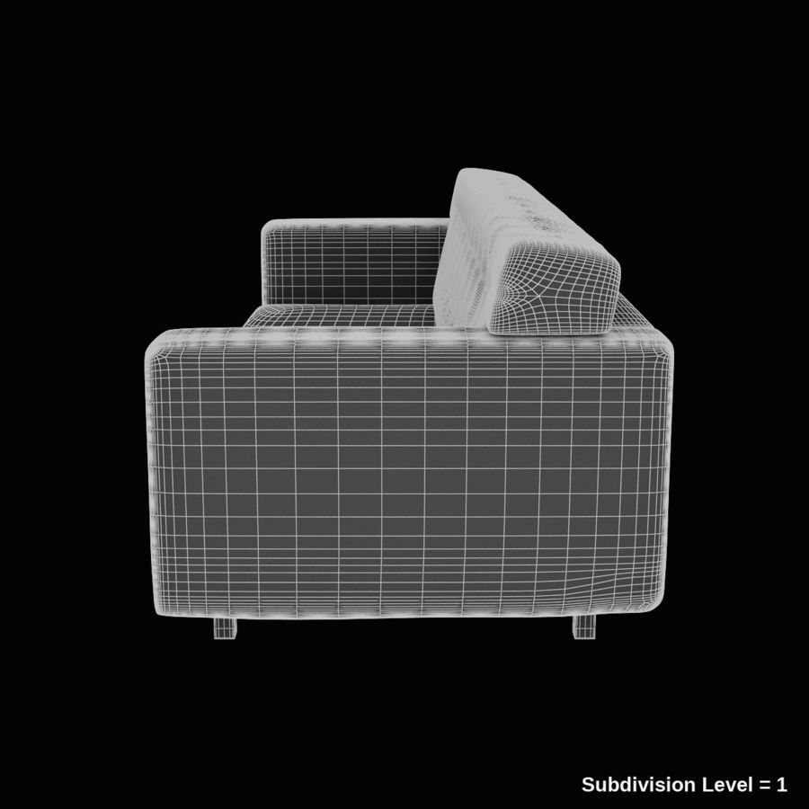 Couch 02 royalty-free 3d model - Preview no. 12