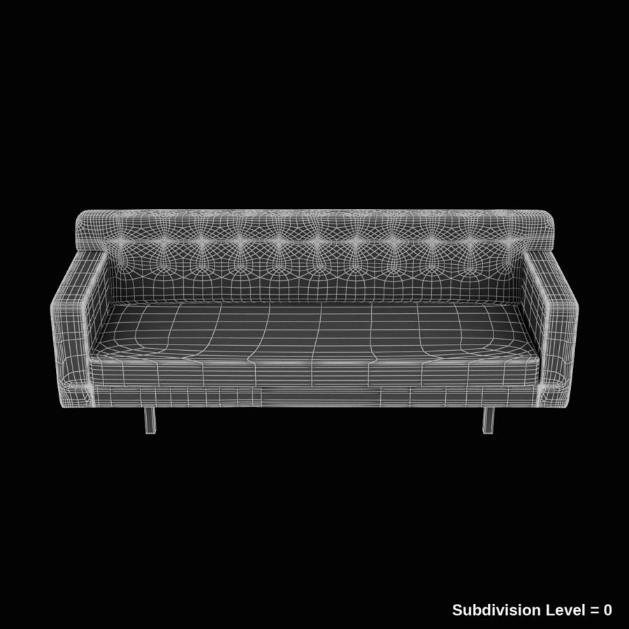Couch 02 royalty-free 3d model - Preview no. 28