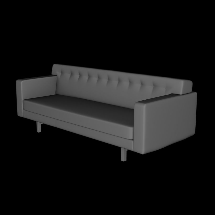 Couch 02 royalty-free 3d model - Preview no. 8