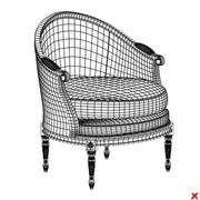 Armchair old fashioned029.ZIP 3d model